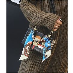 Aishang - Print Boxy Crossbody Bag