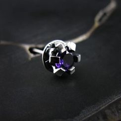 Sterlingworth - Hand Made Amethyst Single Stud Earring