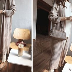 DAILY LOOK - Open-Front Ribbed Cardigan