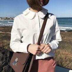 YUKISHU - 娃娃领长袖衬衫