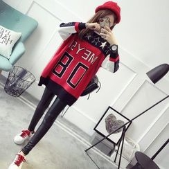 TIMI - Color Block Long Sweater