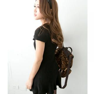 Tokyo Fashion - Short-Sleeved Knit Mini Dress
