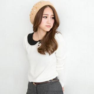 Tokyo Fashion - Peter Pan-Collar Knit Top