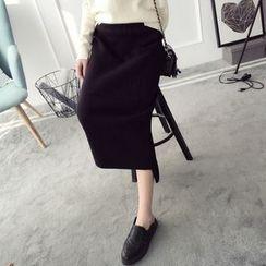 Qimi - 針織中長裙