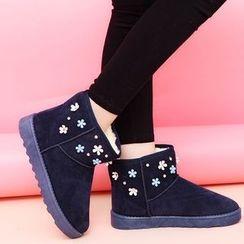 Wello - 碎花短款雪靴