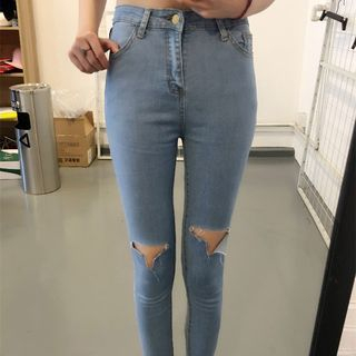 OCTALE - Ripped Skinny Jeans
