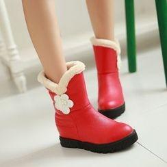 Pastel Pairs - Platform Fleece Lined Short Boots