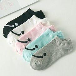 MUMBLE - Smiley Low Socks