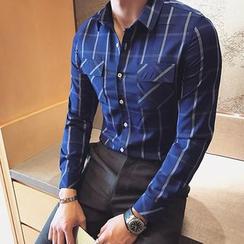 Orizzon - Long-Sleeve Plaid Shirt