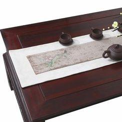 Sun East - 刺繡碎花麻布桌墊