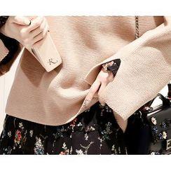 Marlangrouge - Round-Neck Drop-Shoulder Knit Top