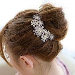 Miss Floral - Rhinestone Pearl Hair Pin