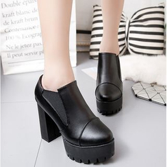 Simply Walk - Chunky Heel Platform Ankle Boots
