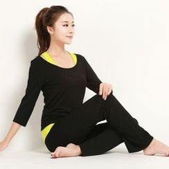 Tamtam Beach - Yoga Set: Tank Top + 3/4-Sleeve Top + Pants