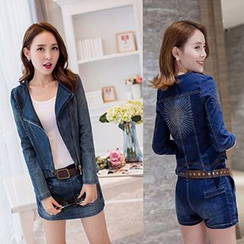 Neeya - Set : Denim Jacket + Denim Skort