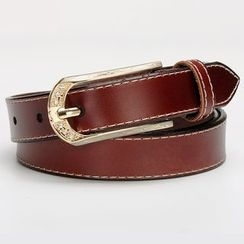 HANYI - Genuine-Leather Stitched Belt