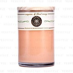 Terra Essential Scents - Massage and Aromatherapy Candle - Tangerine and Blood Orange