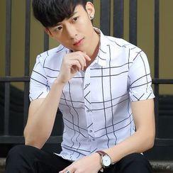 Blueforce - 短袖纯色衬衫