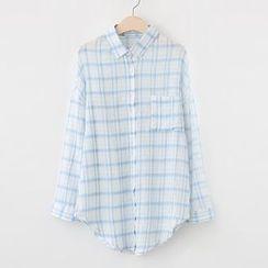 Meimei - Stripe Long-Sleeve Blouse