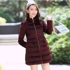 AiSun - Bow Accent Long Padded Coat