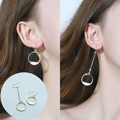 Wind Valley - Non-matching Hoop Earrings