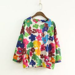 Ranche - 3/4-Sleeve Floral T-Shirt