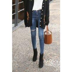 PPGIRL - Distressed Skinny Jeans