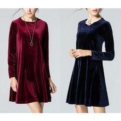 Dream a Dream - Long-Sleeve A-line Dress