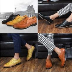 Hipsteria - Faux-Leather Brogue Oxfords