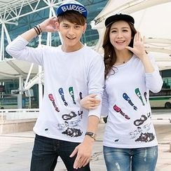 Lovebirds - Couple Printed Pullover