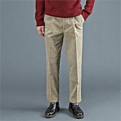 THE COVER - Pleated-Front Corduroy Pants