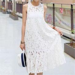 CHICFOX - Sleeveless Lace Dress