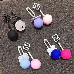 Jemai - 球饰不对称耳环