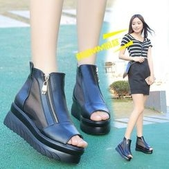 BAYO - Zip Side Platform Sandals