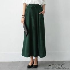 MODE C. - Drawstring Long Skirt
