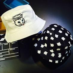 卿本佳人 - 刺繡漁夫帽