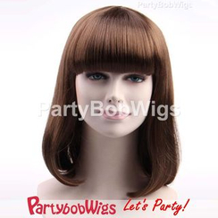 Party Wigs - PartyBobWigs - Party Medium Bob Wig - Brown