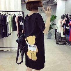 Ukiyo - 印花短袖T裇连衣裙