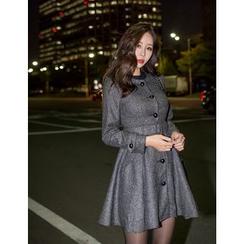 GUMZZI - A-Line Buttoned Dress