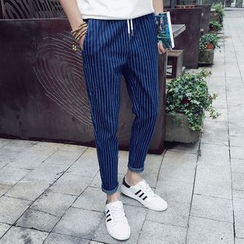 Belinsky - Pinstriped Slim-Fit Jeans