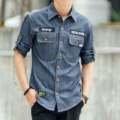 SeventyAge - Short Sleeve Denim Shirt