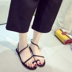 QQ Trend - 編織套趾涼鞋