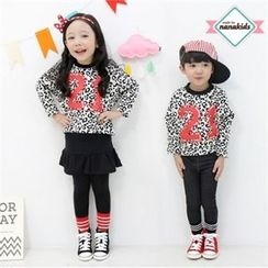 nanakids - Kids Number Print Leopard T-Shirt