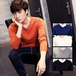 Bingham - V-Neck Long-Sleeve Knit Top
