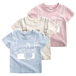 lalalove - Kids Camera Print Short-Sleeve T-Shirt