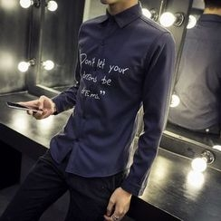 SICRIT - Letter Long-Sleeve Shirt