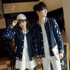 Tabula Rasa - Couple Matching Printed Baseball Jacket