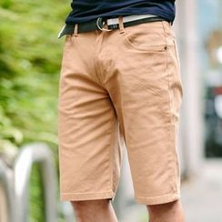 SeventyAge - Plain Shorts with Belt