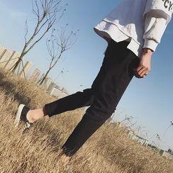 JUN.LEE - Distressed Slim Fit Pants