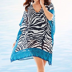 Sunset Hours - Zebra Print Cover-Up